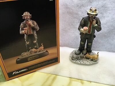 """Flambro Emmett Kelly Jr Exclusive """" No Use Crying """" Figurine Autographed!"""
