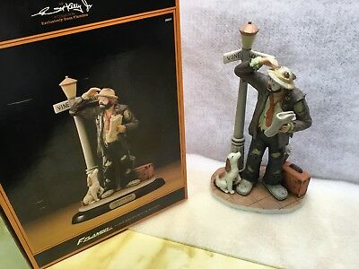 """Emmett Kelly Jr Figurine by Flambro """" Convention Bound """" full size AUTOGRAPHED!!"""