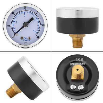 "0-60psi 0-4bar 1/8""BSPT Pressure Gauge Manometer for Water Air Oil Instrument el"