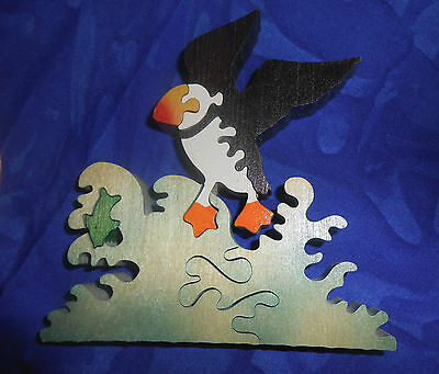 """Vintage 1970s Hard to Find """"Monkey Puzzle"""" Bird Hand Made in England"""