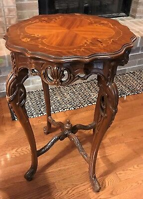 French Louis XV Style Round End/Side Table