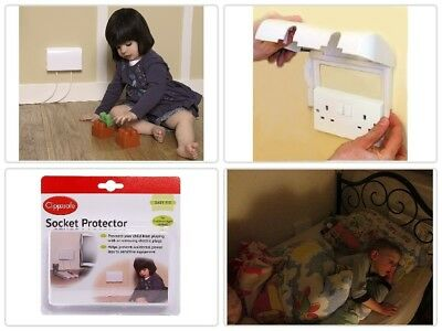New Single Electric Plug Socket Cover Baby Child Safety Protector UK Fast Delive
