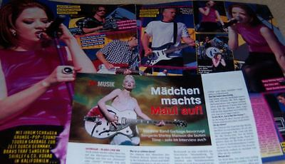 Garbage Shirley Manson 12 pc German Clippings Collection