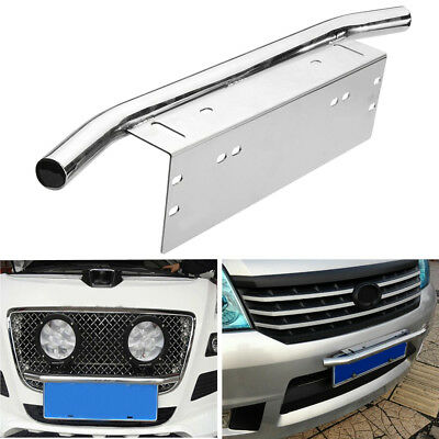 Car Number License Plate Bull Bar Light Lamp Frame Holder Front Mount Bracket