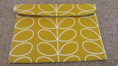 Handmade baby health record book pouch.  NHS red book cover. Orla Kiely  fabric