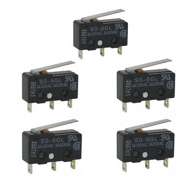 5PCS Mini Limit Switch Micro End Stop Switch Omron SS-5GL For 3D Printer