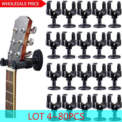 LOT 80PCS Guitar Hanger Hook Holder Stand Wall Mount for All Display Instrument