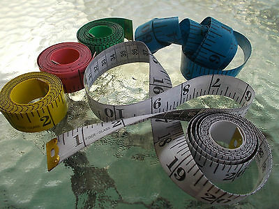 1 x flat tape measure vinyl various colours 150cm 60inches, sewing, crafts