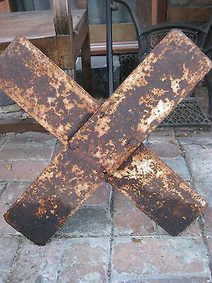 Crossbuck RAILWAY SIGN - Early 20th Century Melbourne History FREE Melb Delivery