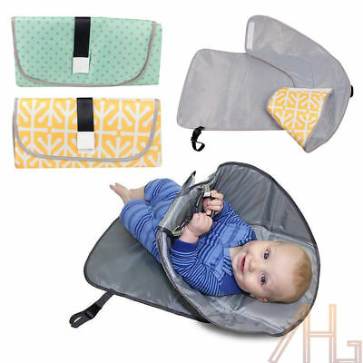 3-in-1 Deluxe Portable Clean Hands Changing Pad Diaper Clutch Changing Station