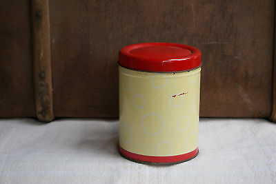 Vintage Cadbury Cocoa TIN Canister Red yellow advertising