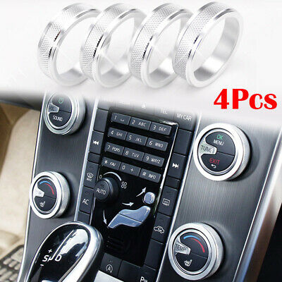 For Volvo V60 XC60 S80 V40 XC70 Air Conditioner Control Switch Knob Cover Ring