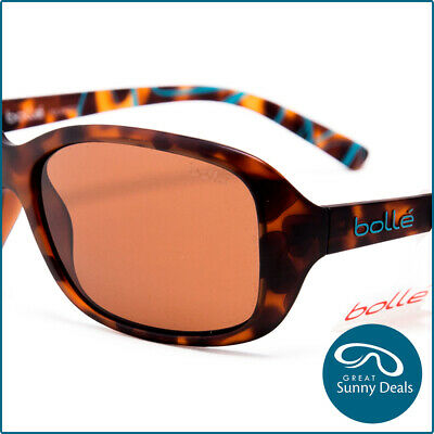 efe49034d0 NEW BOLLE POLARISED Molly Matte Tort Brown Sunglasses (12242) rrp ...