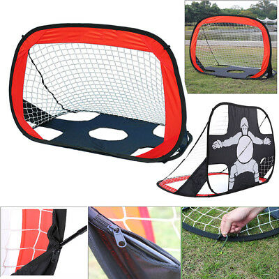 Kid Pop Up Football Soccer Target Sports Training Practice Goal Net Set with Bag