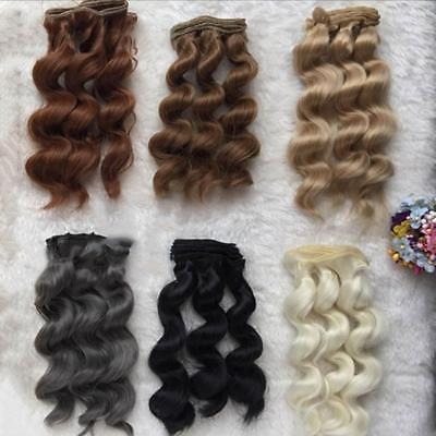 LONG DIY Colorful Ombre Curly Wave Doll Wigs Synthetic Head Hairs Dolls PopSale