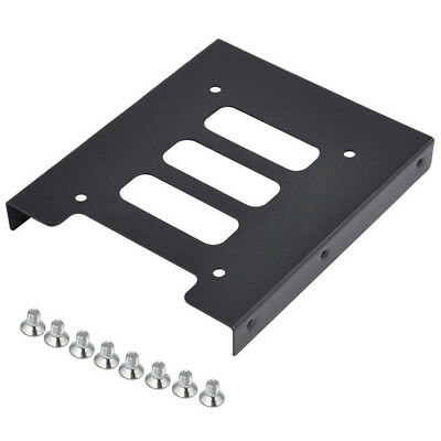 "Black 2.5"" SSD to 3.5"" Bay Hard Drive HDD Mounting Dock Tray Bracket Adapter"