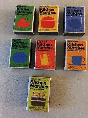 Match Boxes Bryant & May Kitchen Matches X 7 - Unused -Moisture Resistant