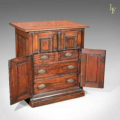 Antique Specimen Cabinet, French Oak Cupboard, Secretaire, Desk, Chest c.1850