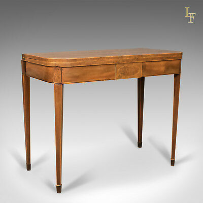 Antique Fold-Over Card Table, Thuya Wood, Late Georgian, English c.1780