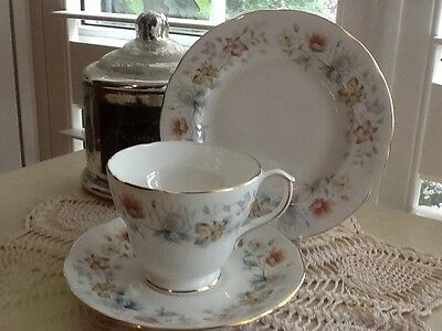 Vintage Collectable Duchess Trio High Tea Evelyn 369 Made in England Floral Set