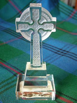 Clear & Frosted Celtic Cross by Celtic Crystal