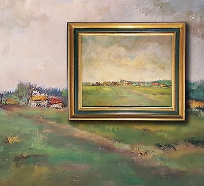 Landscape Pyrenees at Tournay Oil Painting from Louise NYS Bruggeman (1923-2013)
