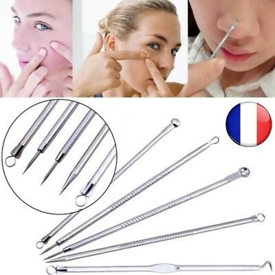 5 pcs point noir comédon acné pimple belmish extracteur extractor outil Visage