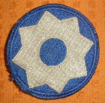 Original WWII US 8th Service Command Shoulder Patch  WWII (No Glow) Used