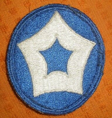 Original WWII US 5th Service Command Shoulder Patch  WWII (No Glow) Used