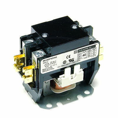 Square D 8910DP42V02 Definite Purpose Contactor,40 FLA, 50 A Res, 110/120V Coil