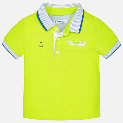 Mayoral Infant Boys Short Sleeved Polo Shirt In Lime (1138) aged 18-36 mnth
