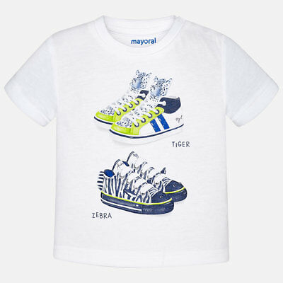 Mayoral Infant Boys Short Sleeved T-Shirt In White (1062) aged 18-36 mnth