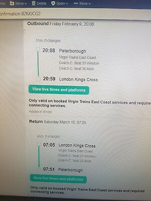 Travel from Peterborough to London return
