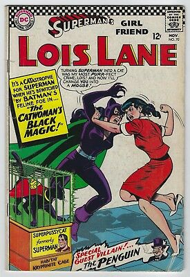 Superman's Girlfriend Lois Lane #70 (1966, DC) 1st SA App Catwoman, VG/VG+