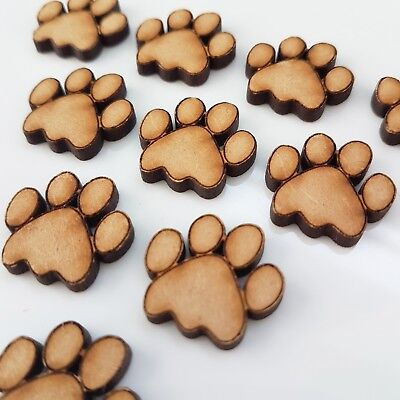 Wooden MDF Paw Print Shapes Cat Paws Dog Paws Embellishments Paws Craft Shapes