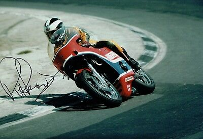 Phil READ SIGNED 12x8 Portrait Photo AFTAL COA Autograph Honda CB750 Silverstone