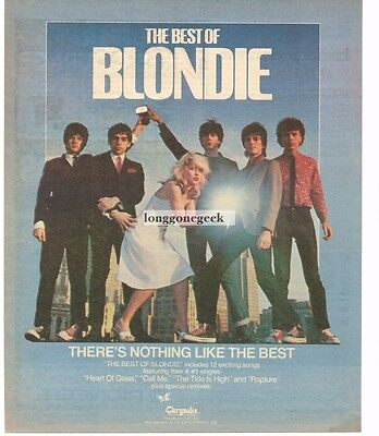 1981 BLONDIE Best Of Vtg Album Promo Print Ad