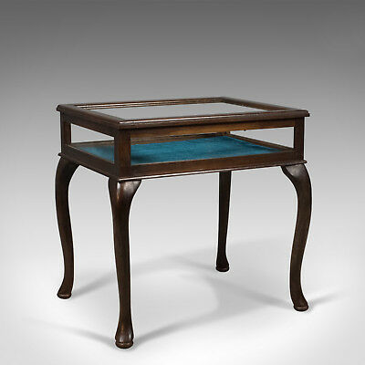 Bijouterie Glazed Display Table, Mahogany, Case, Specimen Cabinet, Late C20th