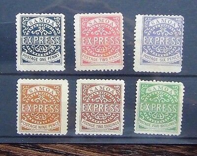 Samoa 1877 - 80 values to 5s MM Cat £1000+ Almost Certainly Forgeries