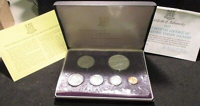 1973 British Virgin Islands Proof Set - First Official Coinage       ENN COINS