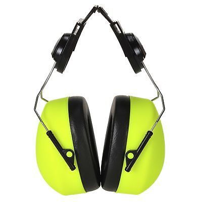 Portwest Clip-on HV Ear Protector Safety Muffs Ear Defenders Hi Vis Yellow PS42