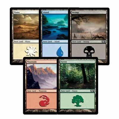 125 x Basic lands - 25 of each colours -  MTG - NM - Magic the Gathering