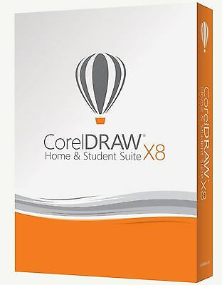 Corel DRAW Graphics Suite X8 Home and Student - 3-PC / Deutsche Version / Key