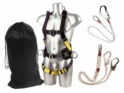 Portwest Safety Harness Fall Arrest Construction Kit Full Body Lanyards FP65