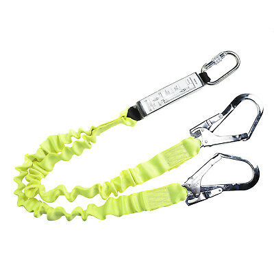 Portwest Safety Harness Double Lanyard Elasticated With Shock Absorber FP52