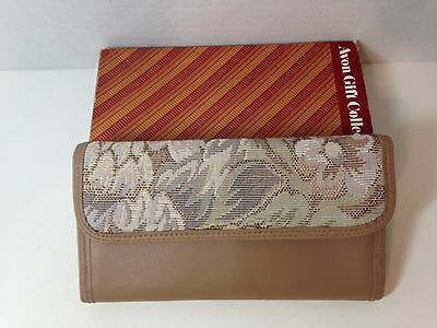 Vintage Avon Gift Collection Rose Taupe Tapestry Clutch - New In Box