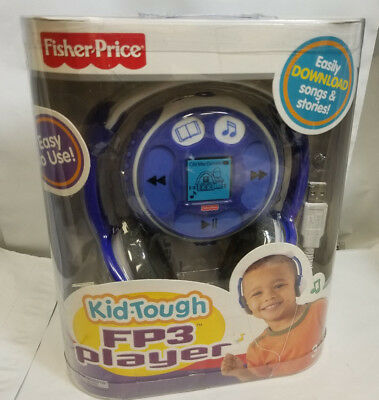 Fisher Price Kid-Tough FP3 Player BLUE 128mb Music & Stories NIB Rare, Qwik Ship