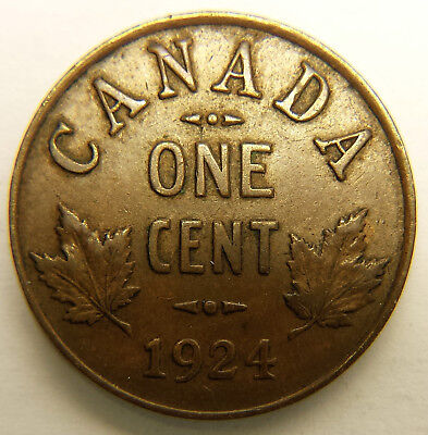 1924 Key Date Canada 1 Cent EF+ Condition, N723