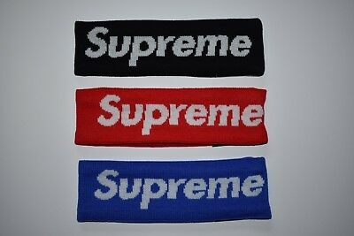 AUS STOCK - Supreme Headband Box logo Red Black Hot New Hypebeast Dry-Fit