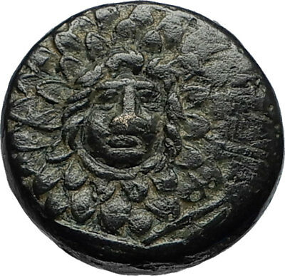 AMISOS in PONTUS 105BC Mithradates VI the Great - Gorgon Nike Greek Coin i67053